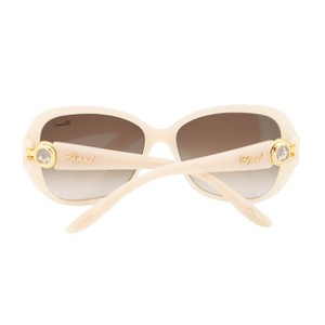 Chopard Chopard New HAPPY DIAMONDS SCH 148S Ivory Floating Crystals Sunglasses