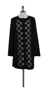 Laundry by Shelli Segal Black White Laser Cut Jacket