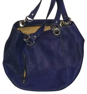 Maxime Satchel in Blue/ medium blue with a hint of a dark periwinkle
