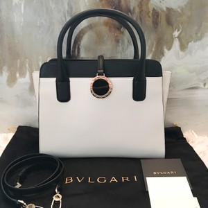 BVLGARI Tote in black white