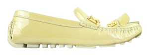Louis Vuitton Mocassin Moccasin Mocasin Driving Loafer Beige Flats