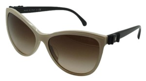 Chanel CHANEL CC Butterfly Charms Cream/Black Bow 58mm Sunglasses