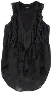 Isabel Marant short dress Black Ruffles Perforated Mini on Tradesy