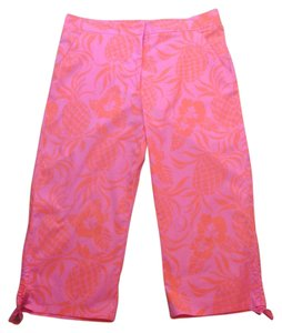 Lilly Pulitzer Capris Pink and orange