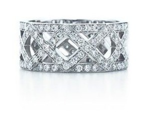 Tiffany & Co. Tiffany & Co. Diamond & Platinum Braided Band Ring