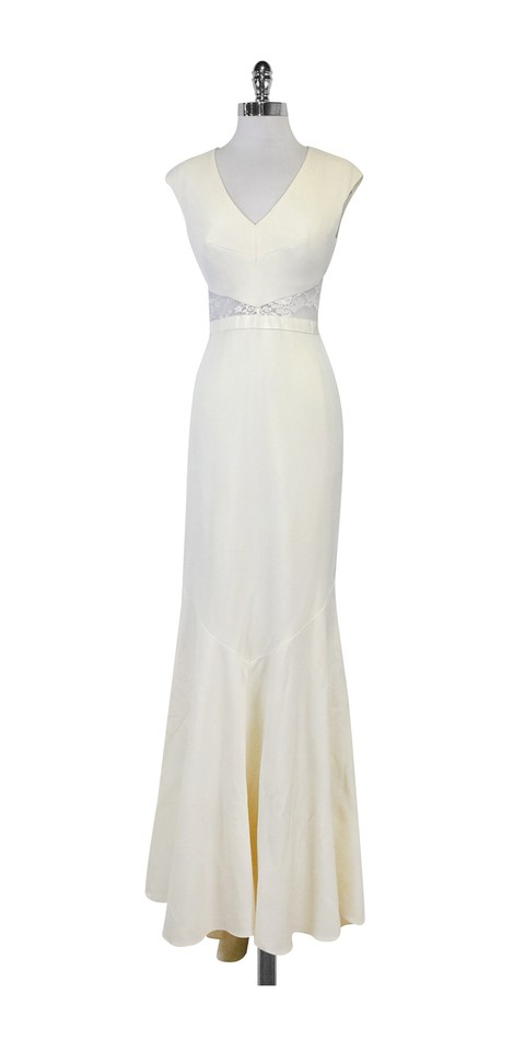 Nicole Miller Antique White Kimberly Bridal Gown Night Out Top Size ...