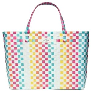 Kate Spade Women's Tote Summer Multi Color Beach Bag