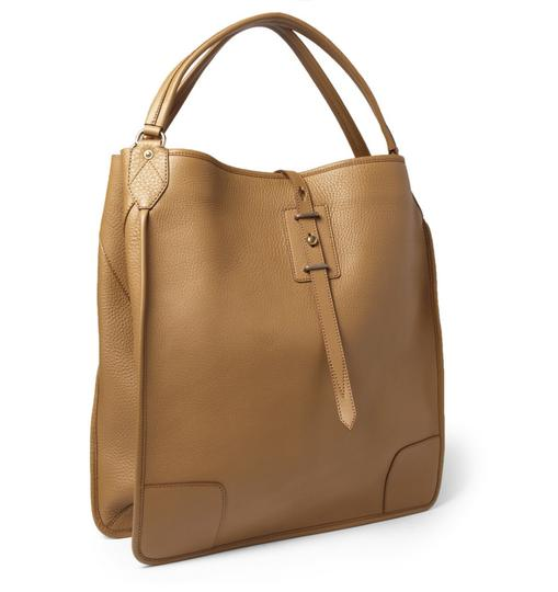 Belstaff Luxury Leather Made In Italy Unisex Tote in Camel brown Image 1