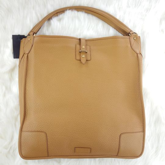 Belstaff Luxury Leather Made In Italy Unisex Tote in Camel brown Image 10
