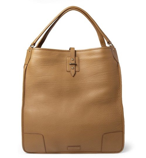Belstaff Luxury Leather Made In Italy Unisex Tote in Camel brown Image 2