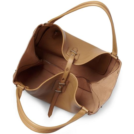 Belstaff Luxury Leather Made In Italy Unisex Tote in Camel brown Image 3