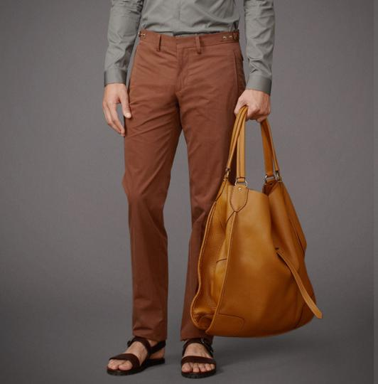 Belstaff Luxury Leather Made In Italy Unisex Tote in Camel brown Image 5