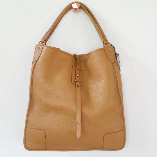 Belstaff Luxury Leather Made In Italy Unisex Tote in Camel brown Image 7