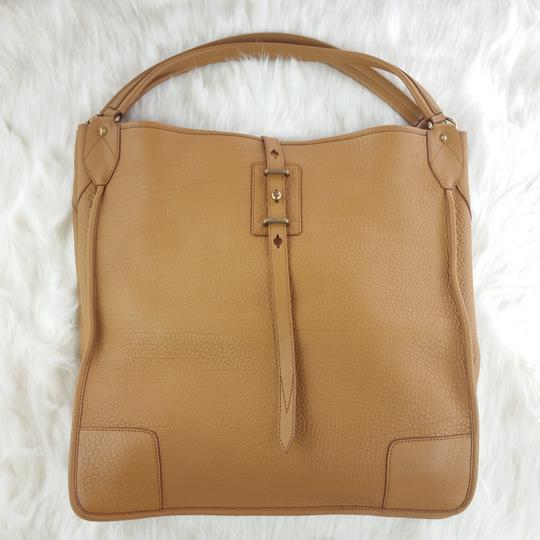 Belstaff Luxury Leather Made In Italy Unisex Tote in Camel brown Image 9