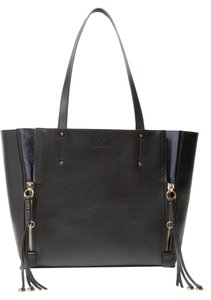 Chloé Chloe Milo Medium Leather Tote in black