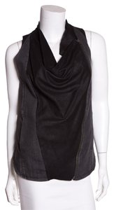 Helmut Lang Top Grey and Black