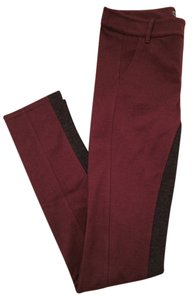 Roots Canada Canadian Burgundy Boredeaux Grey Charcoal Ridingpant Riding Pant Pants Long Burgundy Charcoal Leggings