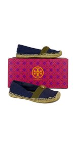 Tory Burch Navy Olive Beacher Espadrille Flats