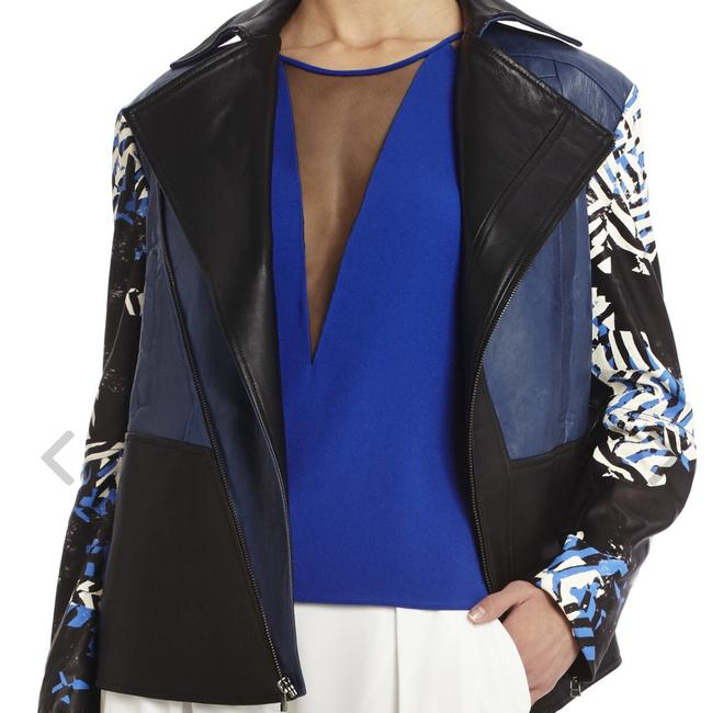 BCBGMAXAZRIA Black Combo Leather Jacket Image 1