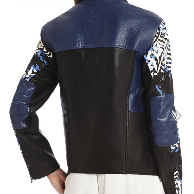 BCBGMAXAZRIA Black Combo Leather Jacket Image 2