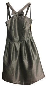 Alfred Sung Cocktail Grey High Neck Dress