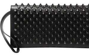 Christian Louboutin Macaron Spiked Leather Wallet black Clutch