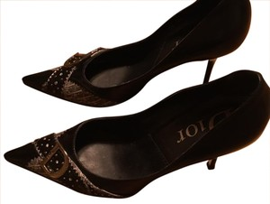 Dior Black.lace cream Pumps