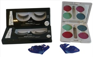 e.l.f. GORGEOUS False Eyelashes & Feathers + BRIGHT Color Palette Eye Shadow