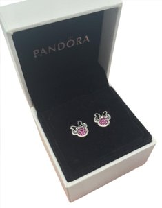 PANDORA Pandora sparkling Minnie Disney earrings in box