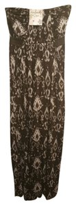 brown cream Maxi Dress by Other Maxi Strapless Sundress