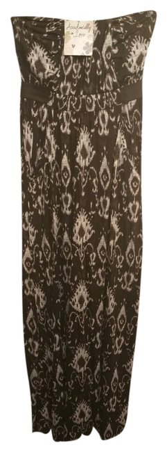 brown cream Maxi Dress by Other Maxi Strapless