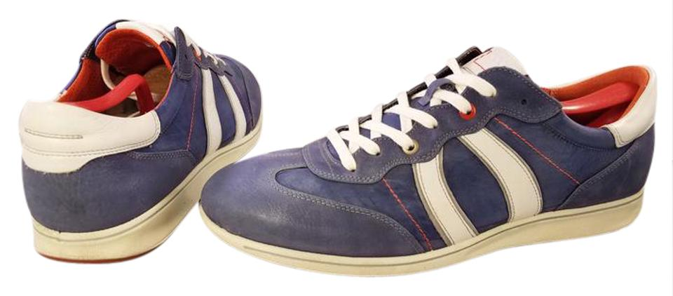 583c248709ba Ecco Blue and White Man Sneakers Suede Nylon Sneakers Size US 11 ...