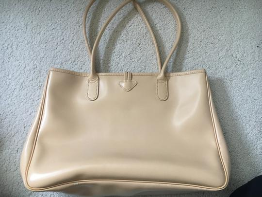 Longchamp Leather Roseau Tan Tote in Silver Image 1