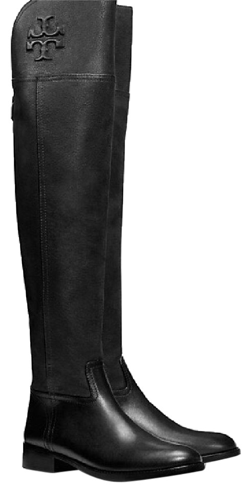 8962e270c Tory Burch Black Simone Over The Knee Boots Booties Size US 5 ...