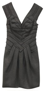 Hervé Leger Wool A-line Classic Woven Dress