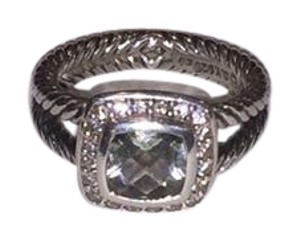 David Yurman David Yurman Petite Albion Ring Prasiolite with Diamonds