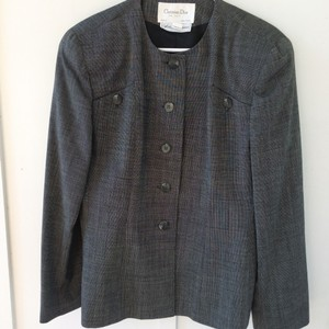 Dior Christian Saks Fifth Avenue Worsted Wool Size 16 Military Jacket