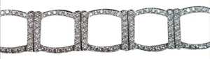 Tiffany & Co. Tiffany & Co Platinum 324 Round Diamond Square Bracelet 7