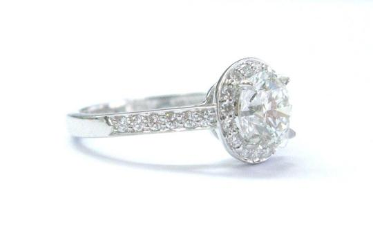 Tiffany & Co. Tiffany & Co Platinum 1.23ct GVVS2 +.22ct Accent Diamond EMBRACE Engag Image 3