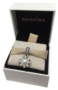 PANDORA Pandora Everlasting grace pearl with cz charm in original gift pouch