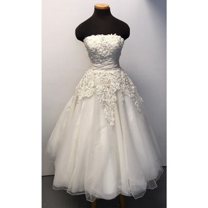 Justin Alexander Justin Alexander Style 8465 Us Sz 6 Natural Ivory Wedding Dress