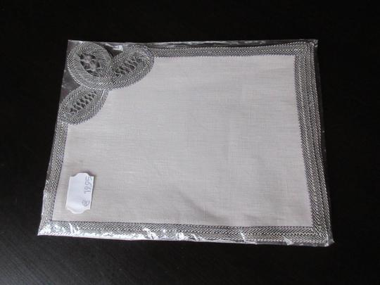 Gray Hand Made Belgian Lace Dinner Napkins Set Of 6 Decoration Image 7