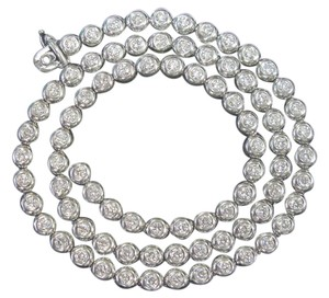 Tiffany & Co. Tiffany & Co Platinum Elsa Peretti Bezel Set Diamond Tennis Necklace 5