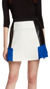 Romeo & Juliet Couture Mini Skirt white black blue