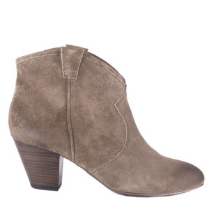 Ash Suede Western Distressed Taupe Boots