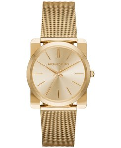 Michael Kors Michael Kors MK3496 Kempton Square Mesh Gold tone Watch NEW!