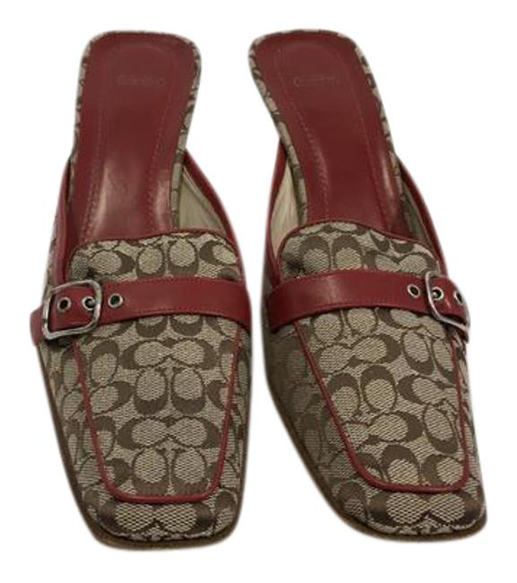 Item - Brown Fabric Logo Leather Borders Lining and Insoles Italian Gwynne Mules/Slides Size US 8.5 Regular (M, B)