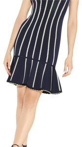 Hervé Leger short dress Navy on Tradesy