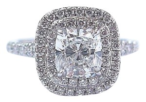 Tiffany & Co. Tiffany & Co Platinum Cushion Cut Diamond Soleste Engagement Ring 1.35