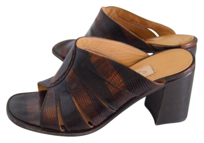 Coach Leather Embossed Made In Italy Sandals Size US 6 Regular (M, B) Coach Leather Embossed Made In Italy Sandals Size US 6 Regular (M, B) Image 1